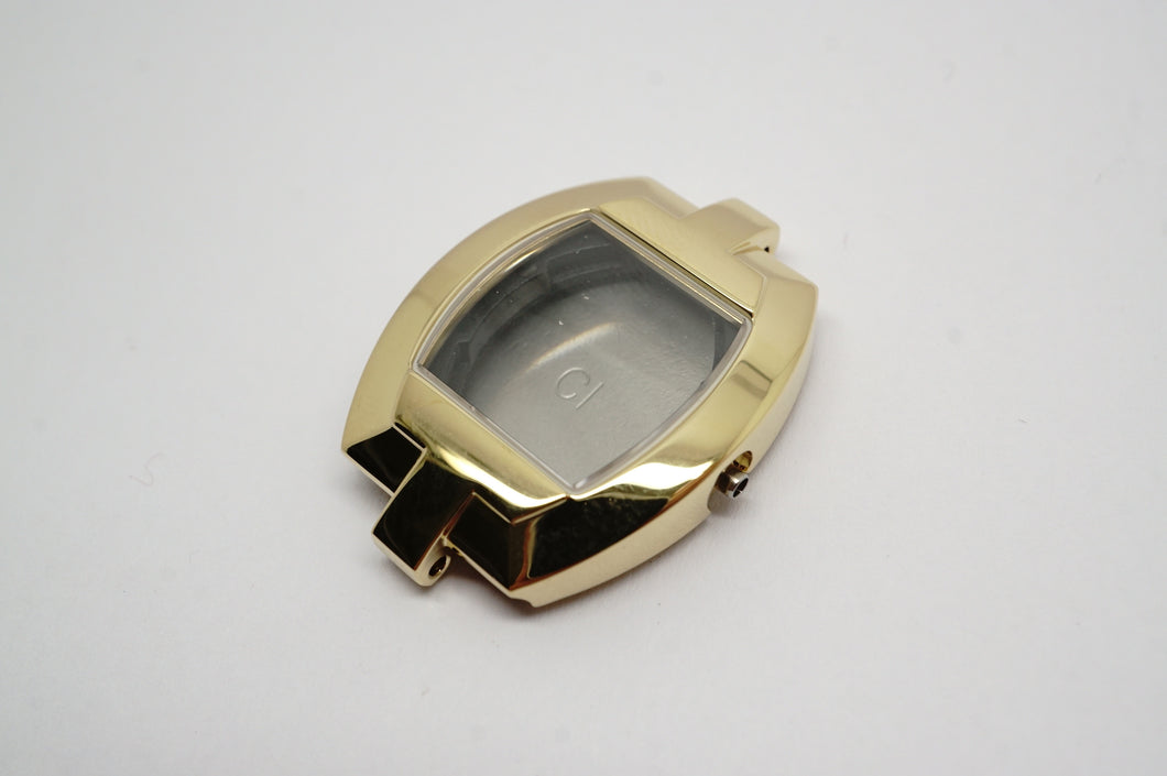 Tissot Complete Case - Model L952 - Gold PVD - Sapphire Glass-Welwyn Watch Parts