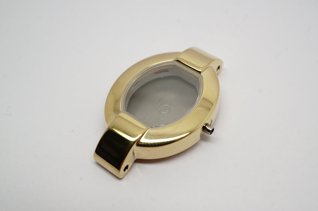 Tissot Complete Case - Model G332 - Gold PVD - Sapphire Glass-Welwyn Watch Parts
