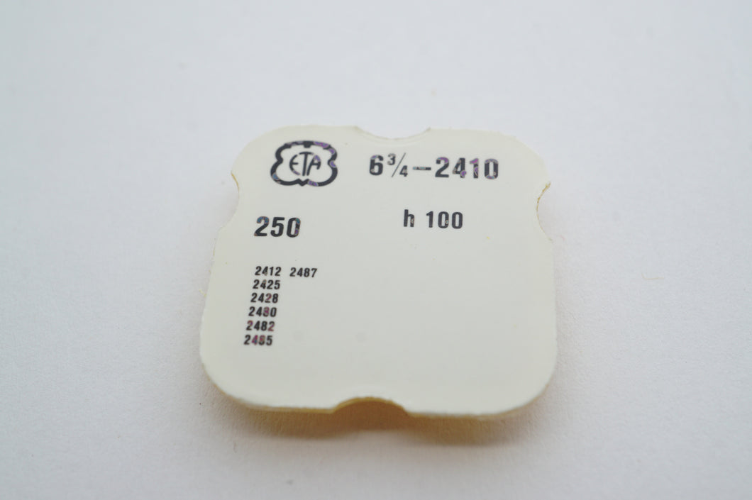 ETA - Cal 2410 - Hour Wheel H100 - Part # 250-Welwyn Watch Parts