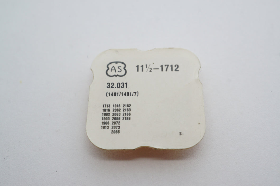 AS - Calibre 1712 - Automatic Reduction Wheel - Part # 1481/1481/7-Welwyn Watch Parts