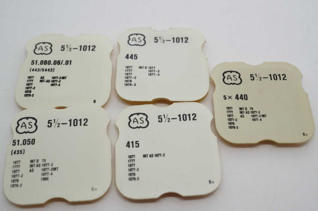 AS - Calibre 1012 - Various Parts - New-Welwyn Watch Parts