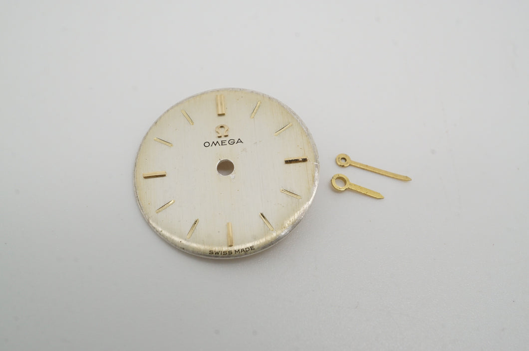 Omega - Calibre 620 - Dial & Hands - Champagne w Gold Batons - 16.49mm-Welwyn Watch Parts