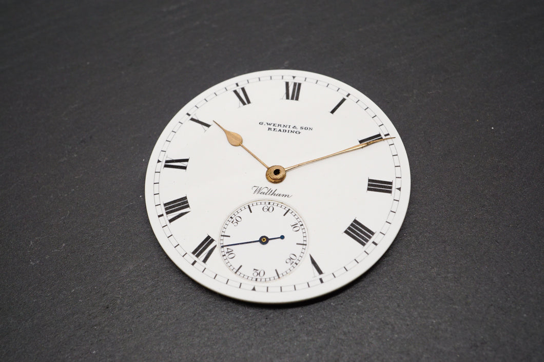 Waltham Grade 610 Dial & Hands - G Werni & Sons Reading Waltham-Welwyn Watch Parts