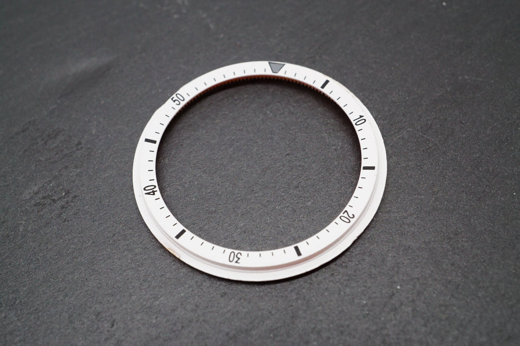 Seiko Chronograph - 6139 -White Inner Rotating Insert - Aftermarket-Welwyn Watch Parts