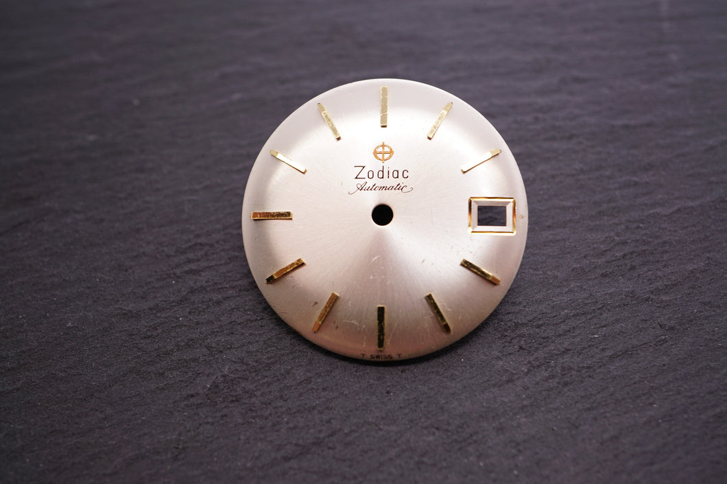 Zodiac Dial - Automatic Silver Date - 27mm-Welwyn Watch Parts