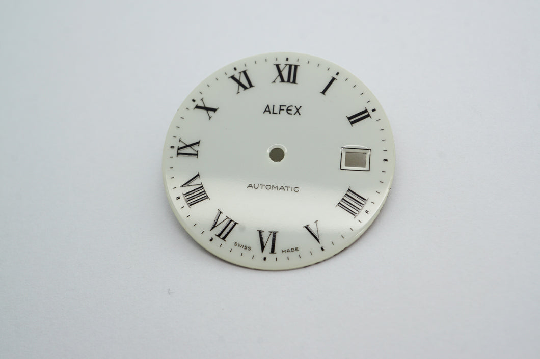 Alfew Swiss Enamel Dial & Hand Set - Fits ETA 2824-2 Movement-Welwyn Watch Parts