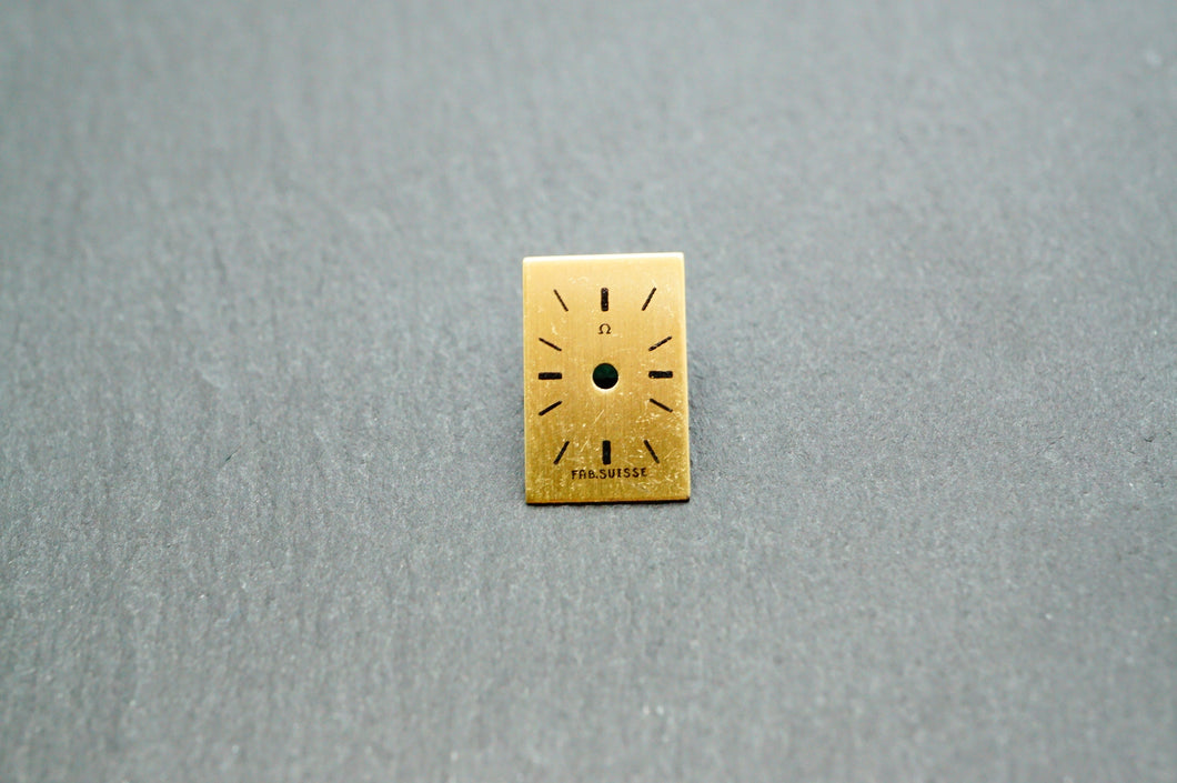 Omega Gold Brushed Cocktail Dial - 7x11mm-Welwyn Watch Parts