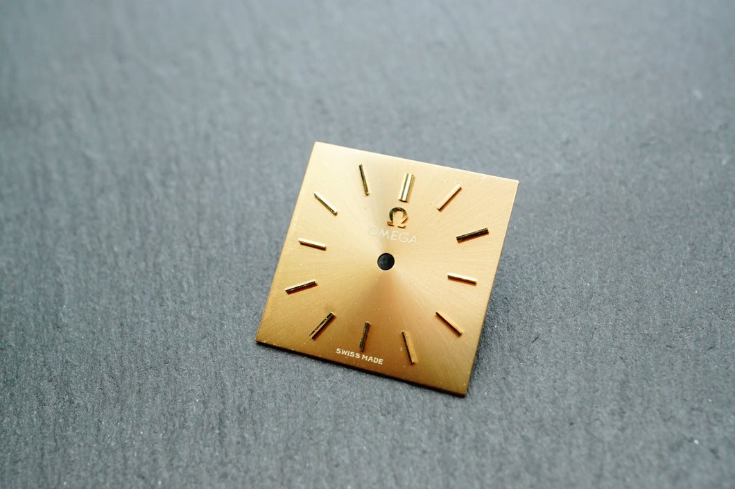 Omega Chocolate Gold Pearl Dial - 17x17mm-Welwyn Watch Parts