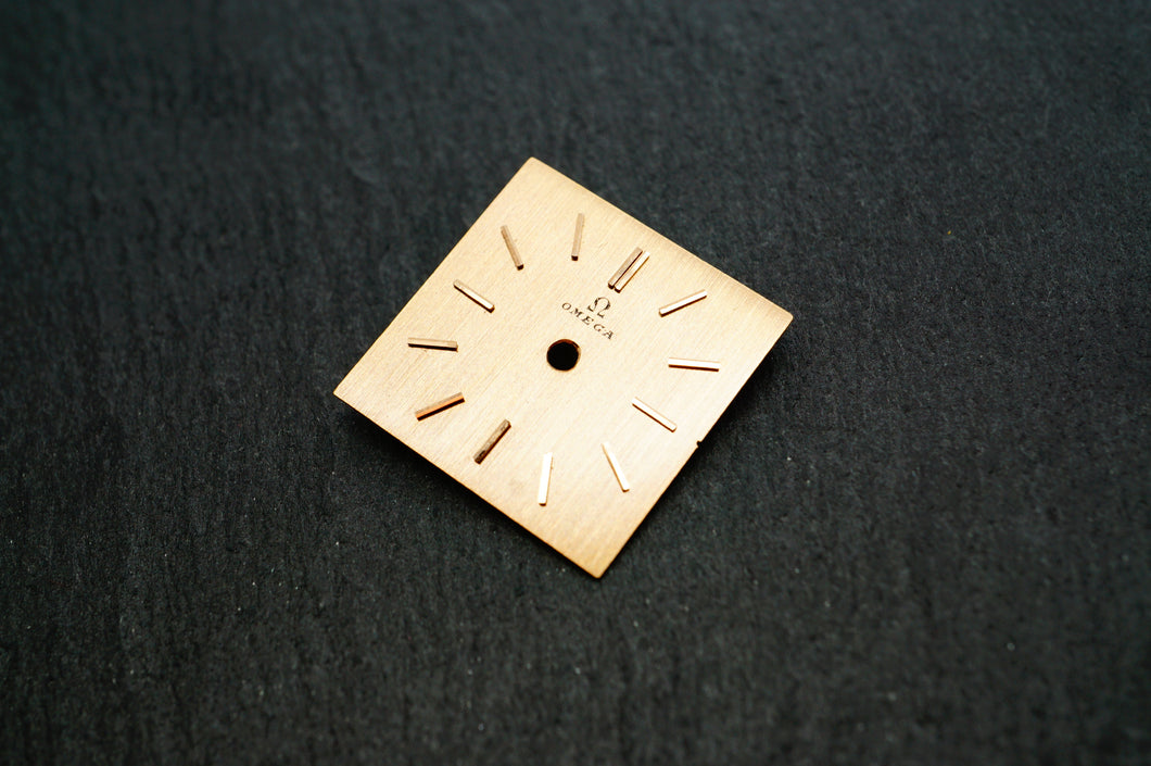 Omega Rose Gold Brushed Dial - 15x15mm-Welwyn Watch Parts