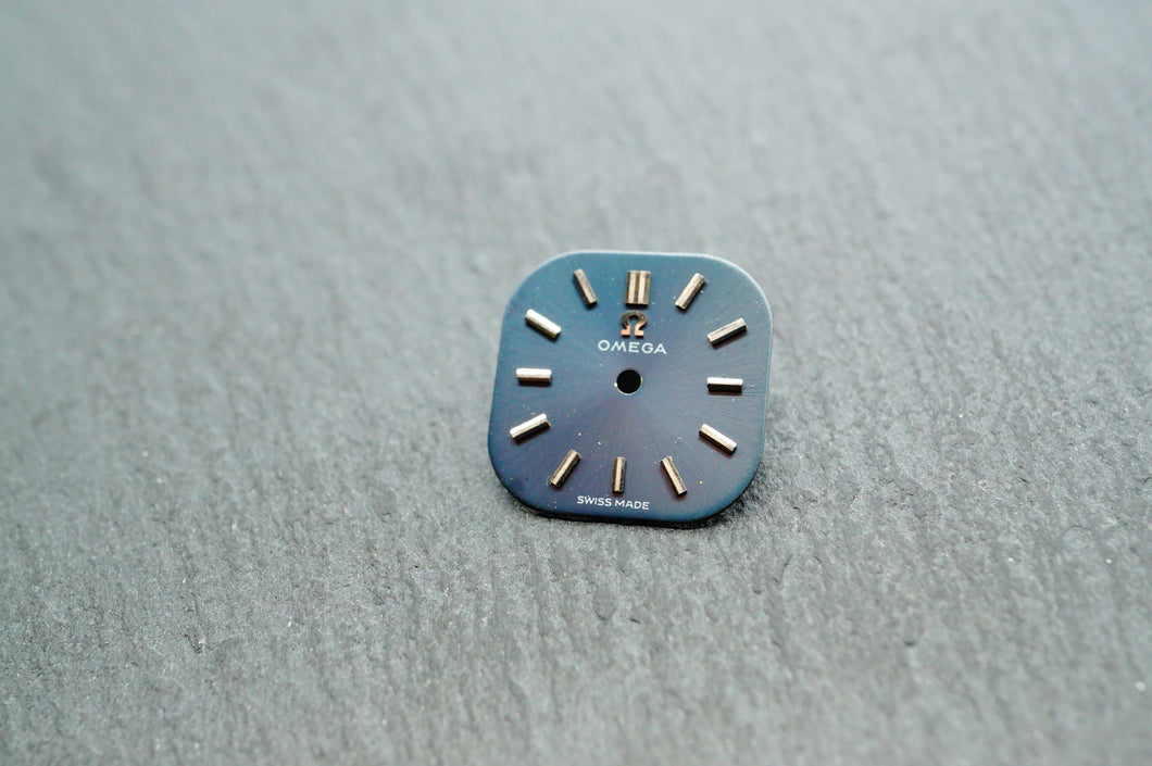 Omega Grey/Blue Cocktail Dial - 12.5mm-Welwyn Watch Parts