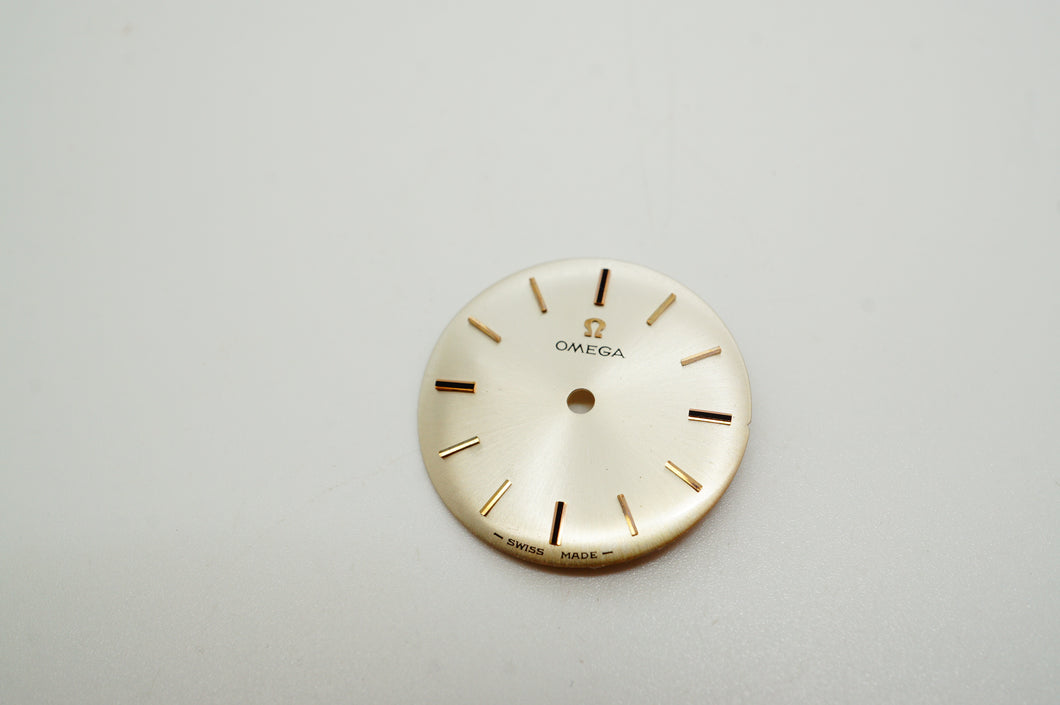 Omega Silver w Rose Gold Baton Dial - 18.4mm-Welwyn Watch Parts