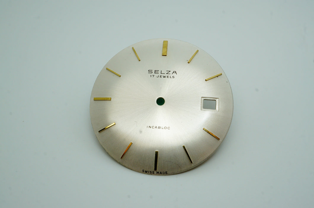 Selza 17 Jewels Incabloc - NOS Dial - 32mm-Welwyn Watch Parts