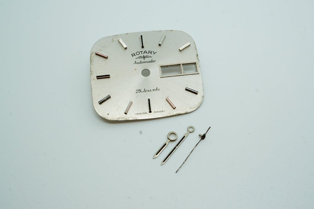 Rotary Automatic TV Dial - Silver - Cal ETA 2836-Welwyn Watch Parts