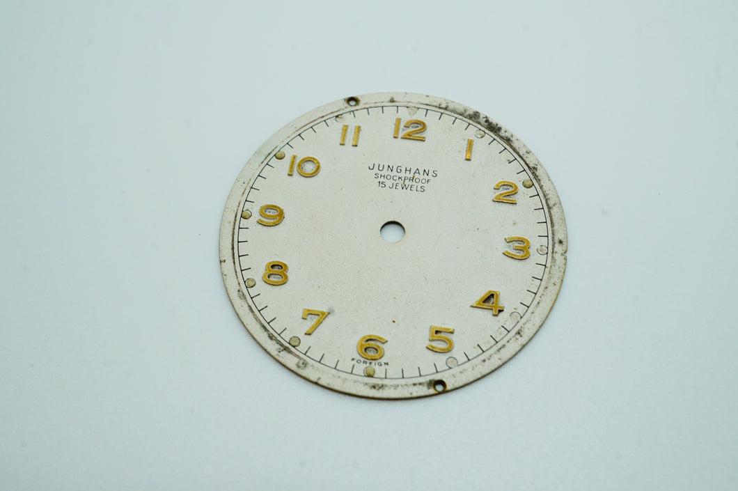 Junghans Shockproof 15 Jewel Dial - Used - 28.8mm-Welwyn Watch Parts
