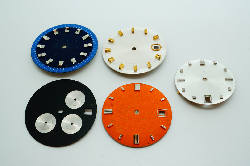 Mixed Lot of Prototype Swiss Dials - NOS-Welwyn Watch Parts