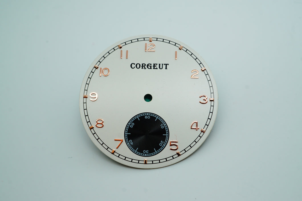 Corgeut Cream & Rose Gold Dial - Cal 6498 - New-Welwyn Watch Parts