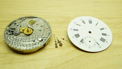 High Quality Pocket Watch Movement + Dial - Early FHF ?-Welwyn Watch Parts
