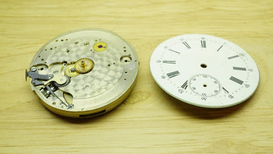 High Quality Pocket Watch Movement + Dial - Early FHF #2?-Welwyn Watch Parts
