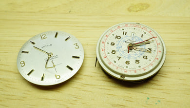 2 x Unknown Movements - Spares & Repairs - Watchmakers Lot-Welwyn Watch Parts