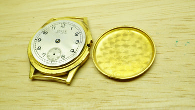 Gold Tone Watch Movement - Spares & Repairs - Watchmakers Lot-Welwyn Watch Parts