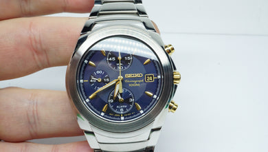 Seiko Quartz Chronograph - 7T62-0EE0 - Stainless Steel - 2008 Model-Welwyn Watch Parts