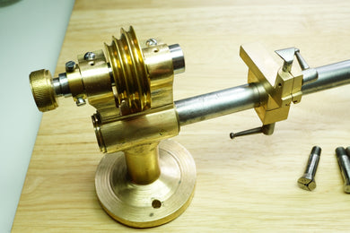 Small Brass Watchmakers Lathe - With Various Collets - Used-Welwyn Watch Parts