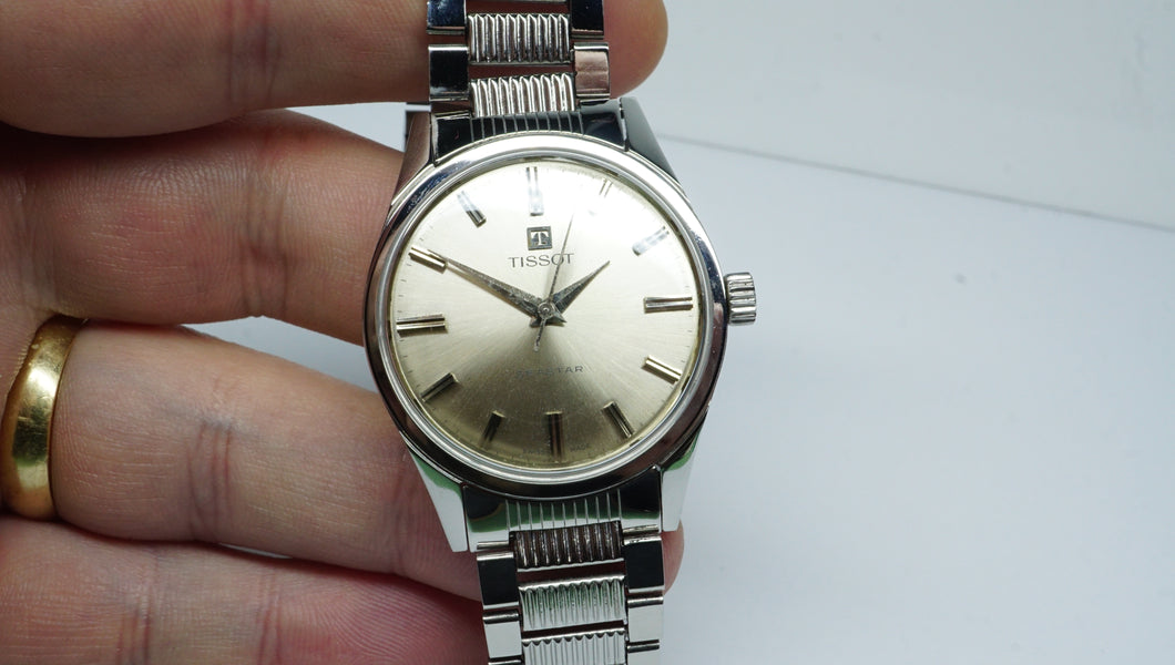 Tissot Swiss - Sea Star - All Steel - Rare Model - Cal 781-Welwyn Watch Parts