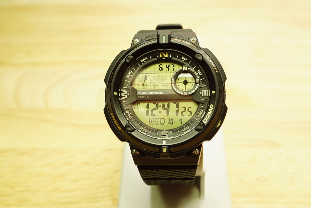 Casio Men's Classic Travel World Time Compass Alarm Chronograph Watch-Welwyn Watch Parts