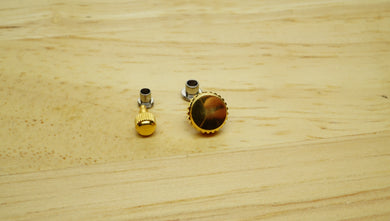 Screw Down Crowns - Gold Plated Crown + Tube - Various Sizes-Welwyn Watch Parts