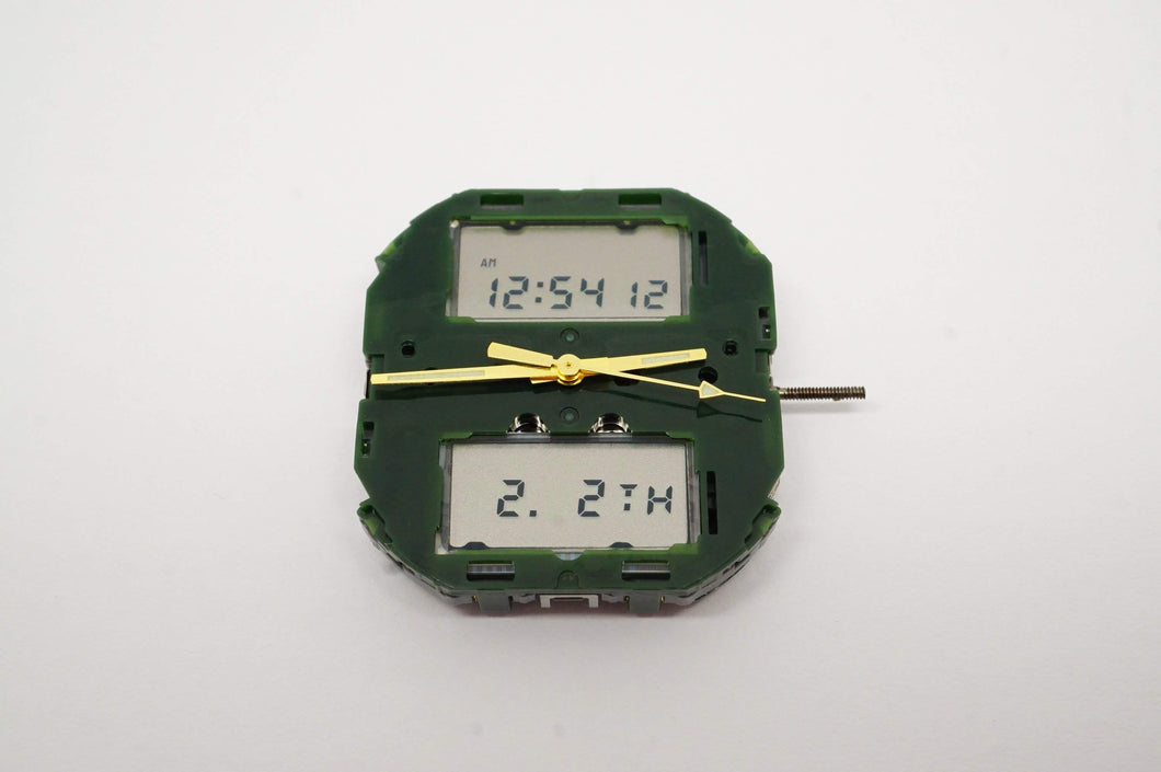 Miyota Calibre T240 Digital/Analog Movement - Used/Running-Welwyn Watch Parts