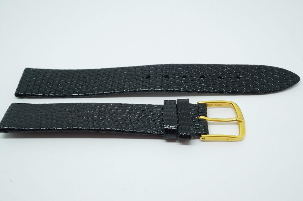 Vintage Hirsch Genuine Lizard Strap - 16mm - GP Buckle-Welwyn Watch Parts