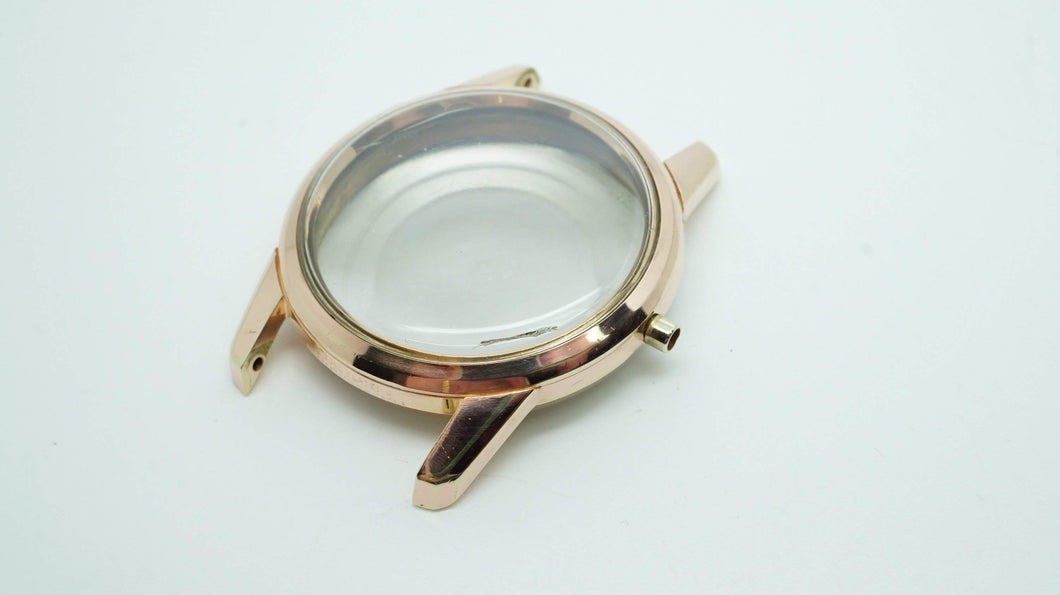 MuDu Doublematic Rose Gold Plated Casing - Used-Welwyn Watch Parts