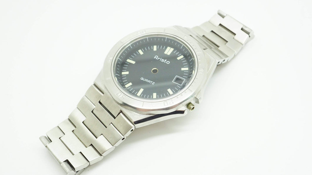 Aristo Quartz Casing/Dial/Bracelet - Vintage Quartz - Stainless Steel-Welwyn Watch Parts