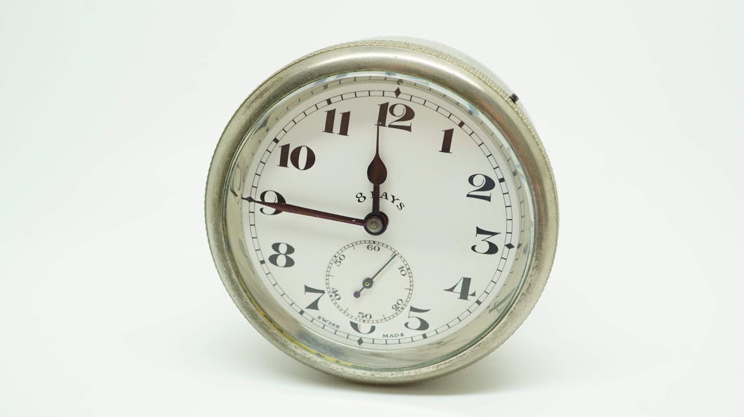 Octo 8 Day Car Dash Clock - Minerva ( unbranded ) - Swiss Made-Welwyn Watch Parts