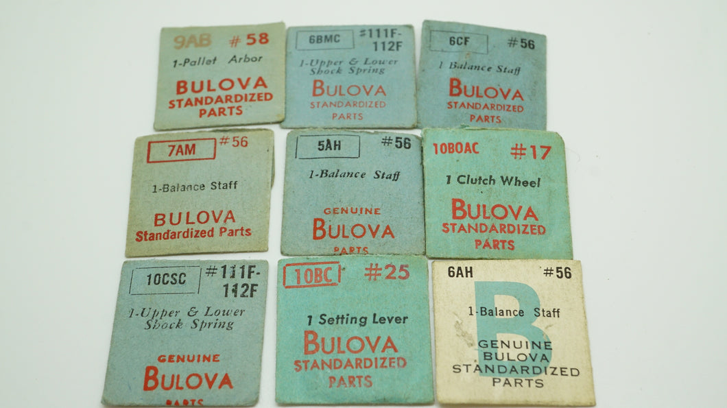 Bulova Mixed Spares - Staffs/Springs-Welwyn Watch Parts