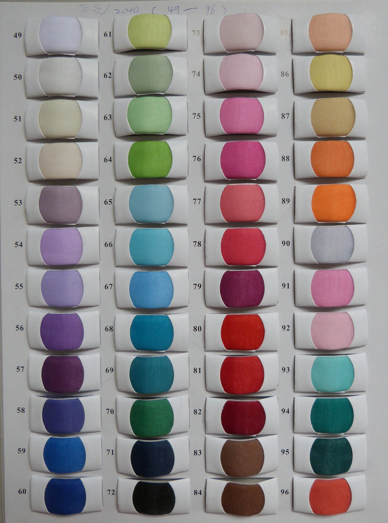 Our Color Chart Siaoryne