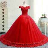 Siaoryne Uniqe Custom Made Handmade Flowers Rose Wedding Dresses New Fashion Prom Gowns