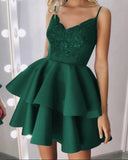 Fashion Siaoryne Short Homecoming Dresses 2019 with Straps SP4741