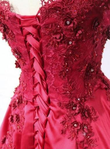 bef1eb8a5 ... Red Wedding Dress Ball Gown Reception Women Formal Evening Party Gown  PL8674 ...