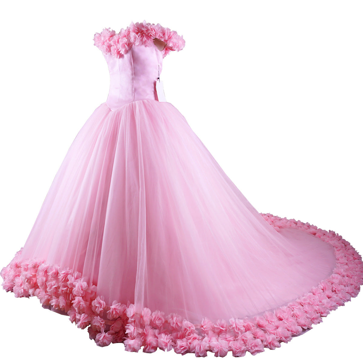 Siaoryne Wd0916 Pink Flowers Wedding Dressball Gowns Bridal Dress Pri