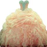 Siaoryne Ball Gown Quinceanera Dresses Organza Sweetheart Beading Prom Dresses Sweet 16 dresses LP1004