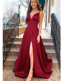Hot Pink Long Prom Dress 2020 Senior Girls Graduation with Straps Formal Wear outlet LP1132