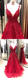 Wine Red Lace Long Girls Graduation Senior Prom Dresses Lace Formal Wear with Strapes PL5120