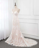 Siaoryne  Elegant Mermaid Ivory /Beige Lace Women Wedding Dress,Bride Gown 2020 WD852