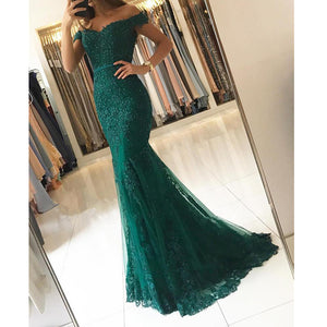 Dark Green Formal Wear Long Prom Dress for Party Queen mermaid Homecoming Graduation Gown
