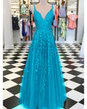 Burgundy /Turquoise /Green Fancy Girls Burgundy Lace Appliques Prom Dresses with Straps PL1129