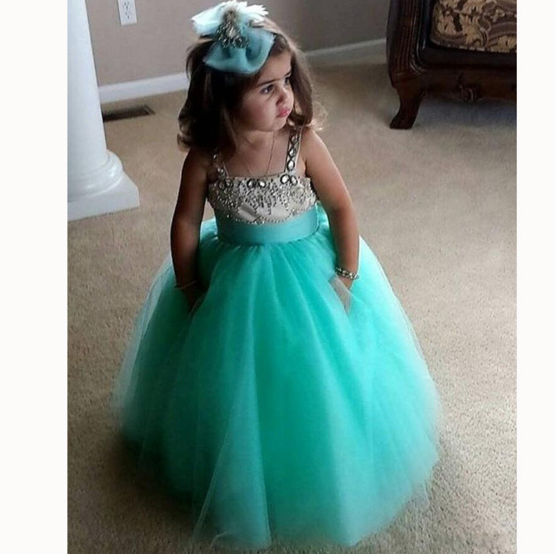 001c38940 Siaoryne Little Baby girl flower girl dress wedding party dress toddler Gown  ...