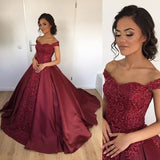 Gorgeous Wine Wedding Dresses with Straps Ball Gown Lace Appliqued Vestido Formal Gown Reception Dresses for women