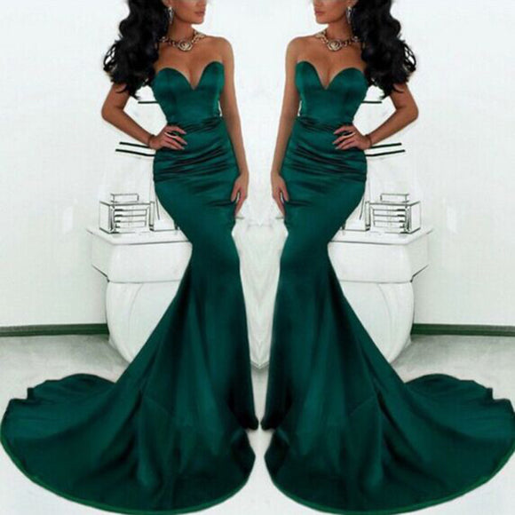 Dreamy Mermaid Sweetheart Prom Dresses Women trumpet Evening Formal Gowns