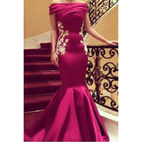 LP1136 Off the Shoulder Mermaid Evening Gown Long Women Formal Wear 2018